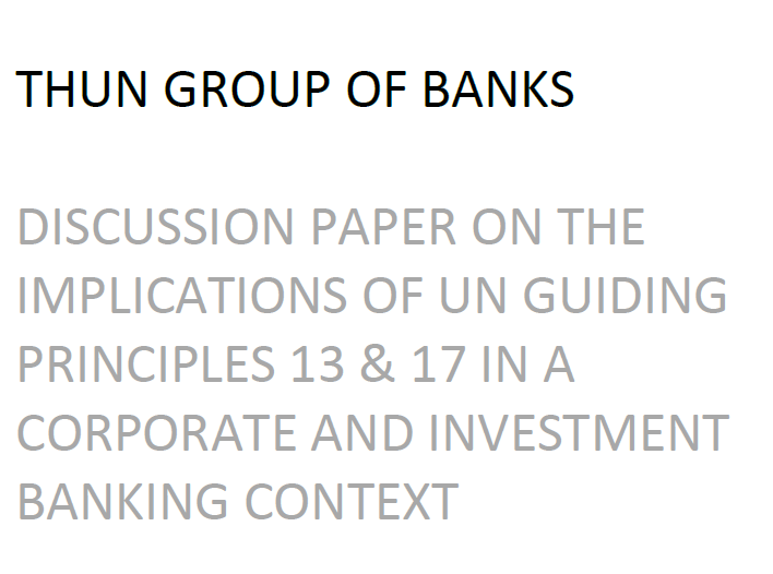 Thun Group of Banks 2017
